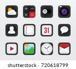 icon set vector mobile... | Shutterstock .eps vector #720618799