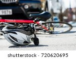 close up of a bicycling helmet... | Shutterstock . vector #720620695