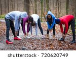 young group of five people... | Shutterstock . vector #720620749
