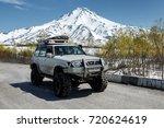 kamchatka peninsula  russian... | Shutterstock . vector #720624619