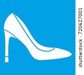 high heel shoe icon white... | Shutterstock . vector #720627001