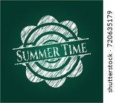 summer time written on a... | Shutterstock .eps vector #720635179