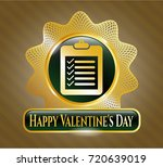 gold shiny badge with list...   Shutterstock .eps vector #720639019
