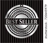 best seller silver shiny badge | Shutterstock .eps vector #720645979