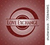 love exchange retro red emblem   Shutterstock .eps vector #720646441