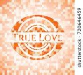true love orange mosaic emblem   Shutterstock .eps vector #720646459