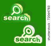 vector search sticker. vector... | Shutterstock .eps vector #72064783