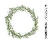watercolor rosemary wreath.... | Shutterstock . vector #720647875
