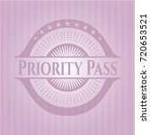 priority pass realistic pink...