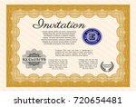 orange invitation template....   Shutterstock .eps vector #720654481