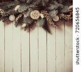 christmas border design with...   Shutterstock . vector #720656845