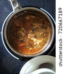 Small photo of Pot of Minestrone soup