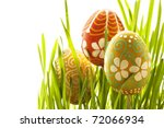 hand painted easter eggs and... | Shutterstock . vector #72066934