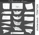 big vector set   paper | Shutterstock .eps vector #72067126