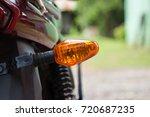 turning light on motorcycle... | Shutterstock . vector #720687235
