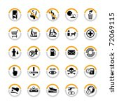 set of miscellaneous pictograms ...