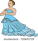 vector art drawing of thai... | Shutterstock .eps vector #720691729