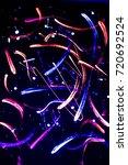 psycho art with uv light | Shutterstock . vector #720692524