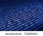 Binary Code On Detail Pixelated ...