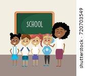 teacher woman educated the... | Shutterstock .eps vector #720703549