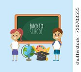 students knowledge to education ... | Shutterstock .eps vector #720703555