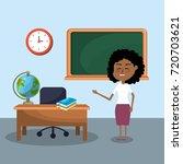 teacher woman and creative... | Shutterstock .eps vector #720703621