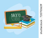 school tools to education and... | Shutterstock .eps vector #720703639