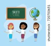 set teacher woman with... | Shutterstock .eps vector #720703651