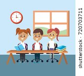 students knowledge to education ... | Shutterstock .eps vector #720703711