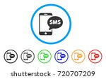 send phone sms rounded icon.... | Shutterstock .eps vector #720707209