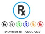 rx symbol rounded icon. style... | Shutterstock .eps vector #720707239