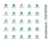 set globe world logo vector ... | Shutterstock .eps vector #720709705