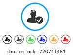 patient valid rounded icon.... | Shutterstock .eps vector #720711481
