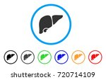 liver rounded icon. style is a... | Shutterstock .eps vector #720714109