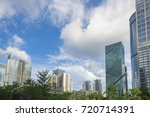 modern architecture in the blue ... | Shutterstock . vector #720714391