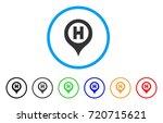hospital letter marker rounded... | Shutterstock .eps vector #720715621
