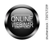 online webinar button isolated  ... | Shutterstock . vector #720717259