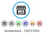 drug shop rounded icon. style... | Shutterstock .eps vector #720717451