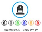 cemetery stone rounded icon....   Shutterstock .eps vector #720719419