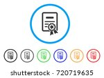 certificate rounded icon. style ... | Shutterstock .eps vector #720719635