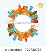 cape town skyline with color... | Shutterstock . vector #720720799
