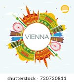 vienna skyline with color... | Shutterstock . vector #720720811