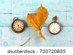 i vintage pocket clocks and... | Shutterstock . vector #720720835