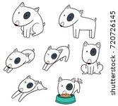vector set of dog  bull terrier | Shutterstock .eps vector #720726145