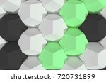 pattern of white  green and... | Shutterstock . vector #720731899