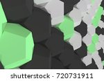 pattern of white  green and... | Shutterstock . vector #720731911