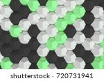 pattern of white  green and... | Shutterstock . vector #720731941