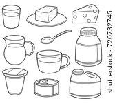 vector set of milk product | Shutterstock .eps vector #720732745