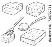 vector set of brownie | Shutterstock .eps vector #720732751