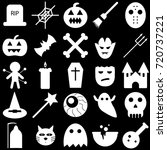 set of halloween objects ... | Shutterstock .eps vector #720737221